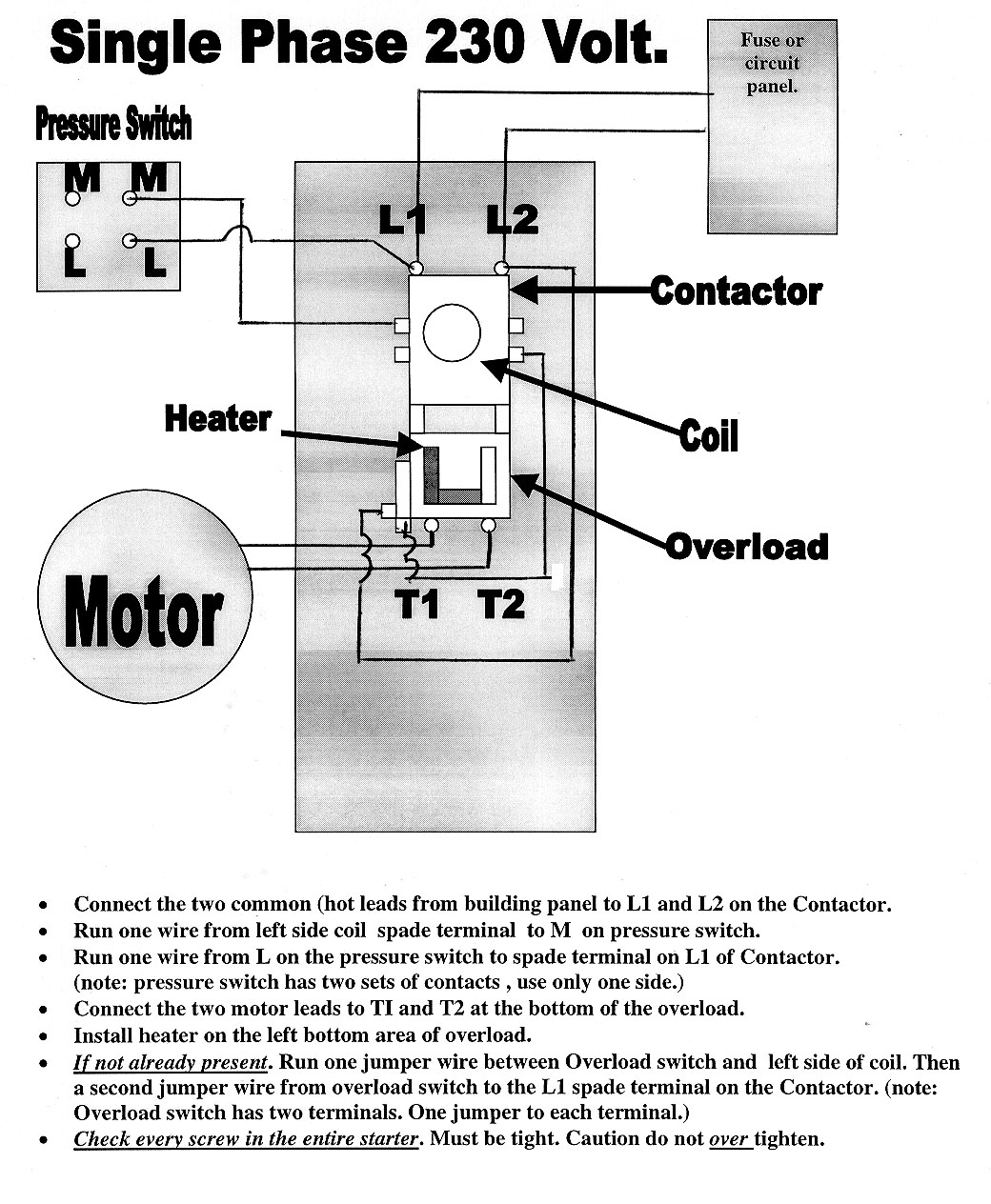 1 2 hp electric motor wiring diagram magnetic-starters