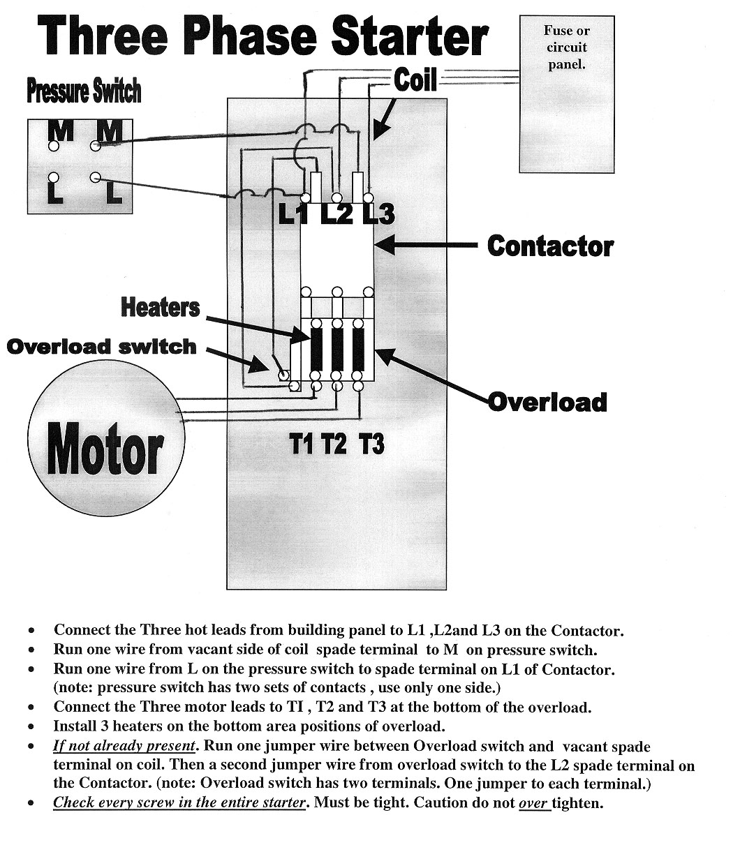 3PhWiring electrical contactor wiring diagram 3 phase contactor with  at panicattacktreatment.co